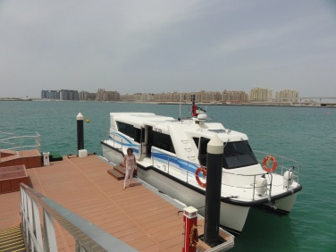 Arriving by shuttle boat