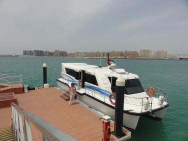 Arriving by shuttle boat