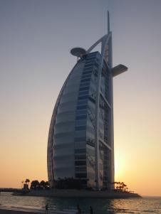 321 meters of billowing architecture - Burj Al Arab at sunset!