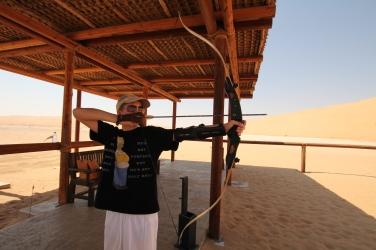 Martin enjoying archery!