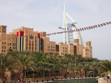 Mina A'Salam with Burj Al Arab in the background.
