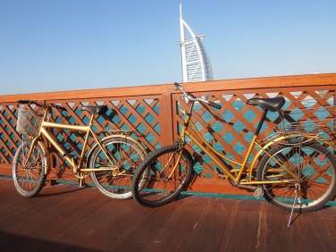 Some arrived more stylish then others... in golden colored bikes.