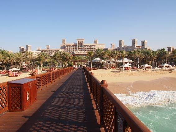 Al Qasr Hotel in the background