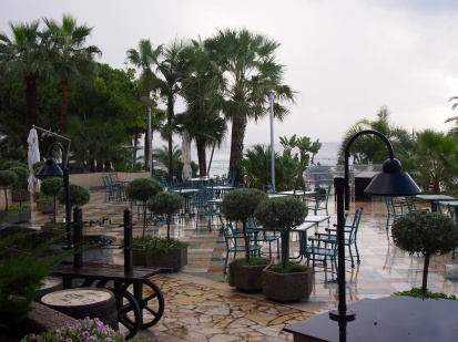 A wet affair at Kalypso's panoramic terrace...