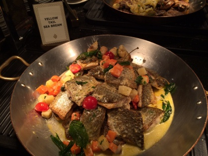 Yellow tail sea bream