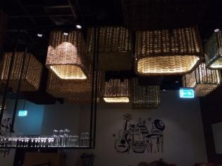 Love the hanging basket lights